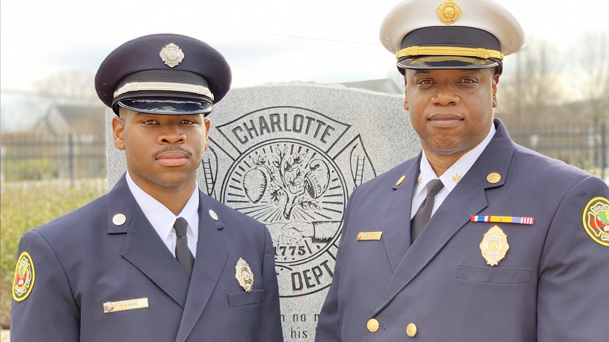 Father, son are dynamic duo at Charlotte Fire Department