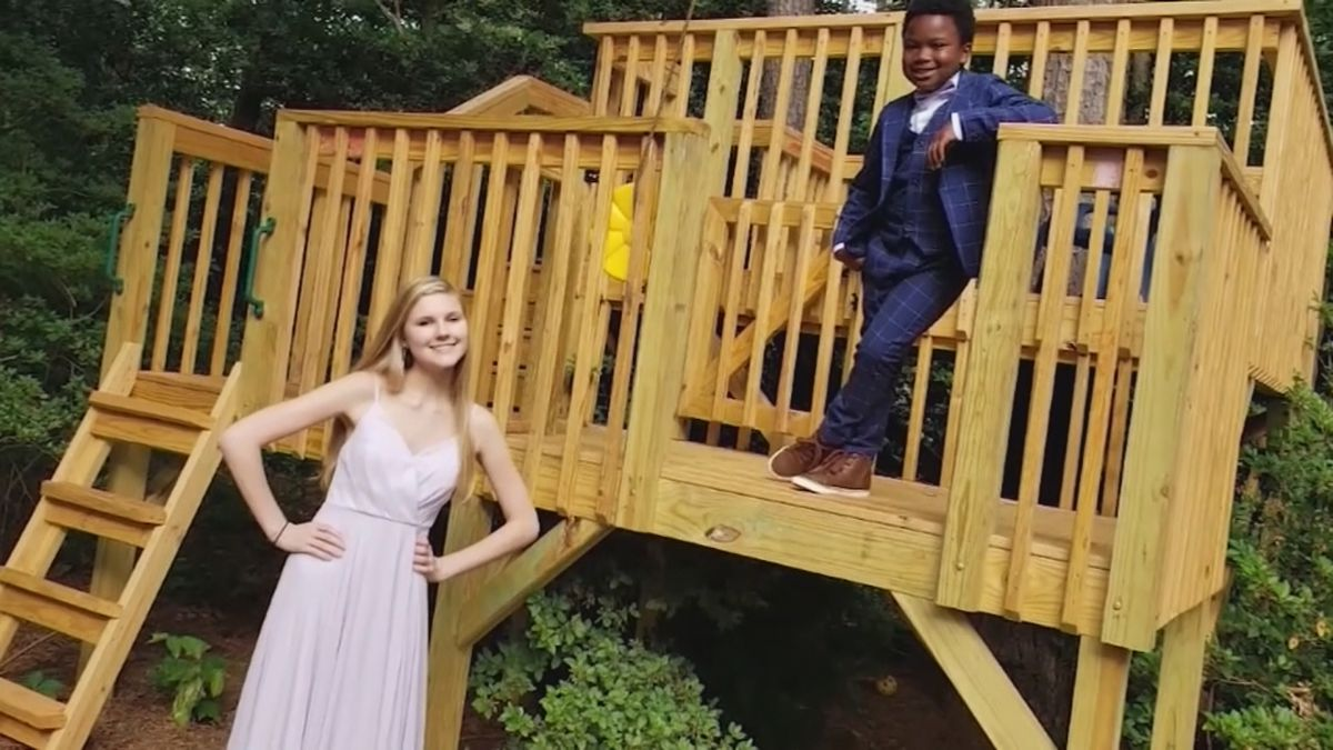 No prom? No problem: NC 7-year-old holds backyard event for nanny