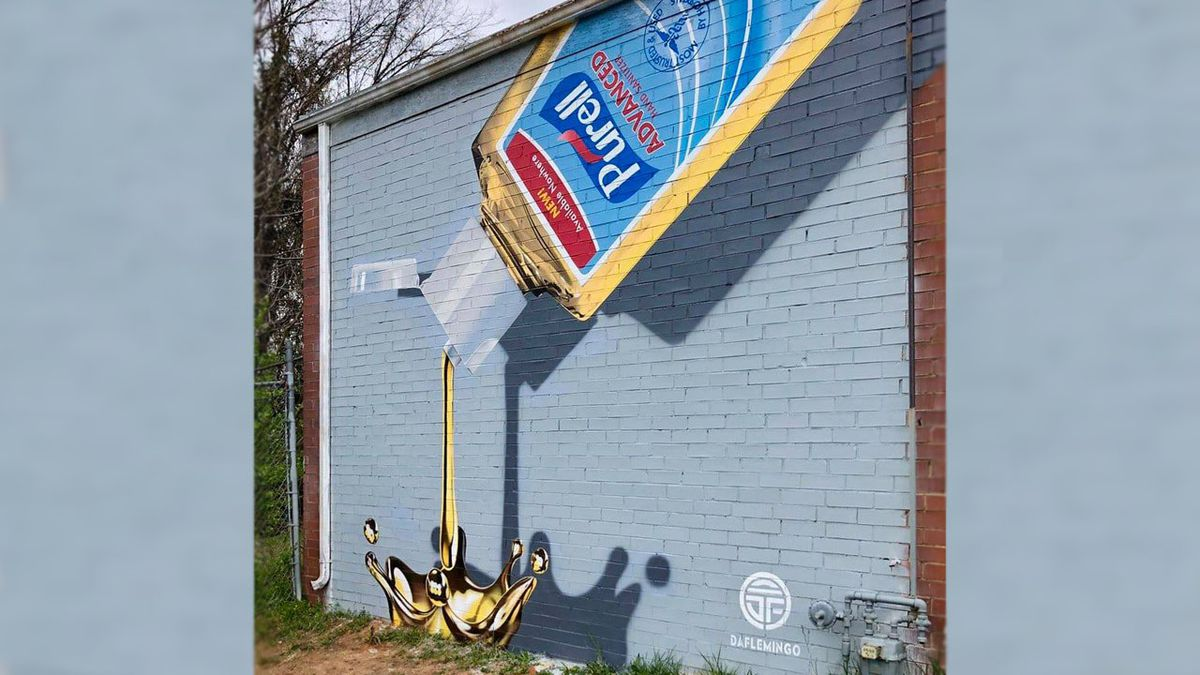 'Like liquid gold': Need for hand sanitizer inspires mural in NoDa