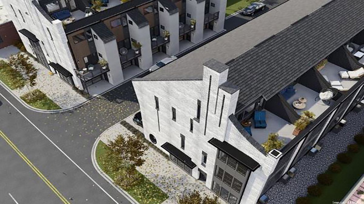 Townhouse project taking shape in burgeoning South End area