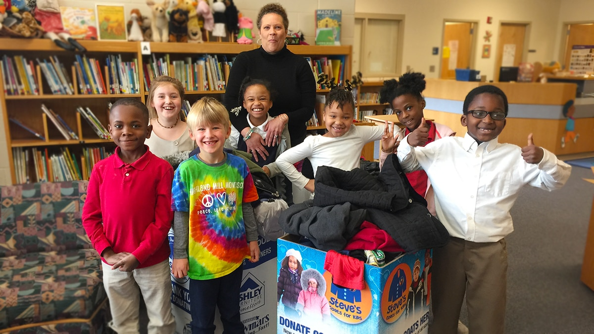 Year after year, this school donates coats for kids in need