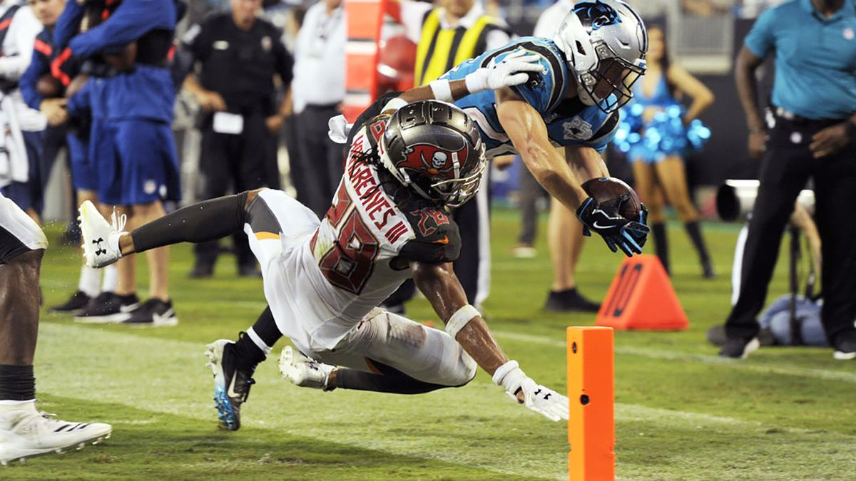 'It's embarrassing': Bucs use goal-line stand to beat Panthers 20-14