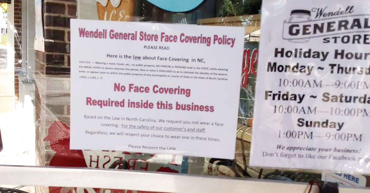 'Exceptions to every rule': Police cite NC store owner for discouraging masks