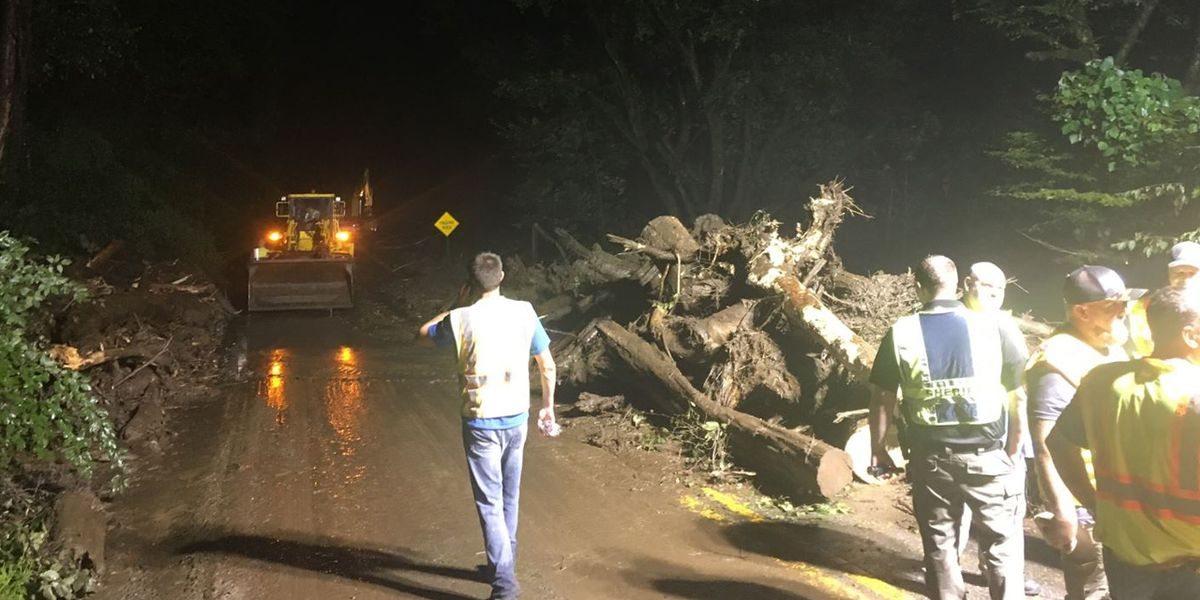 Landslides caused by heavy rain had people trapped in Swain Co.