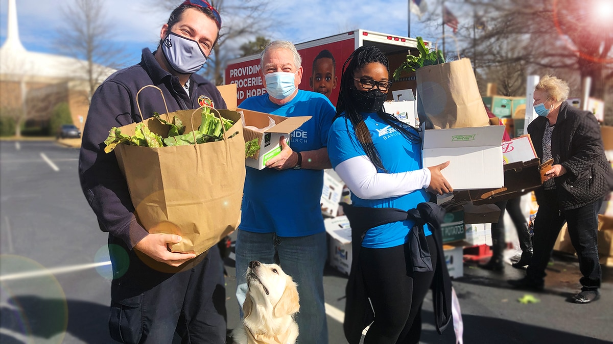 Loaves & Fishes free food distribution