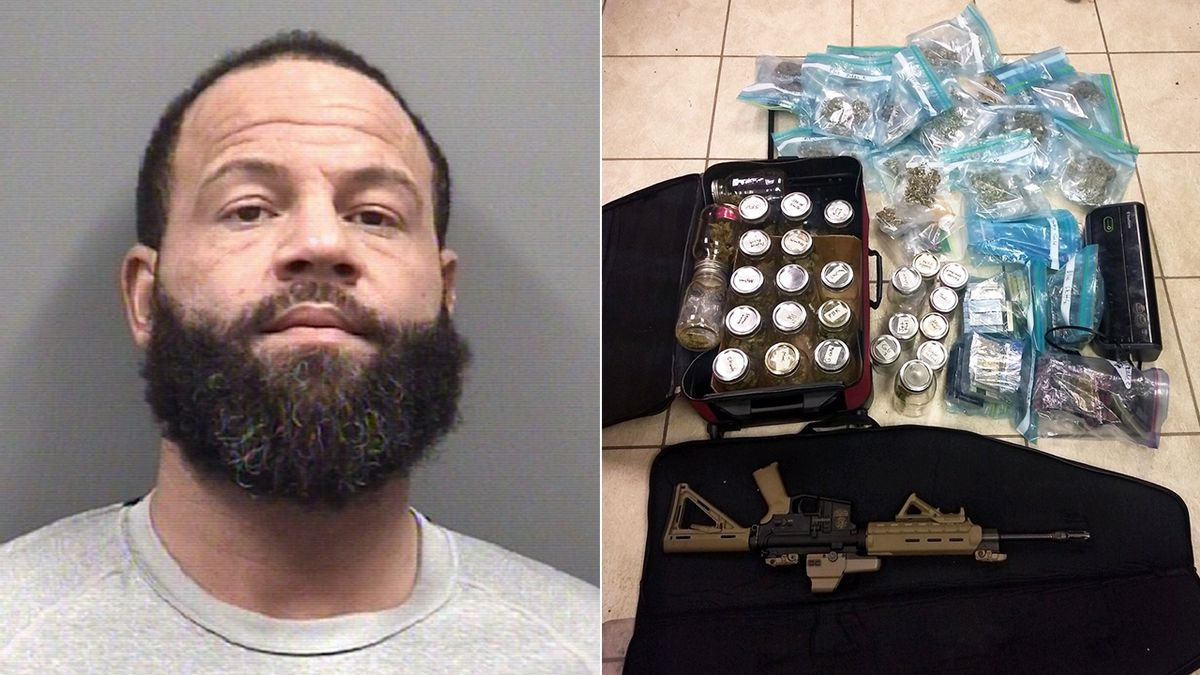 Convicted felon accused of trying to ship thousands of dollars of pot from California to NC