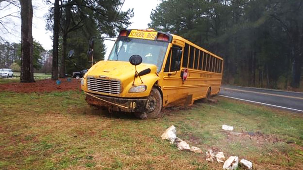 7 students taken to hospital after school bus crashes in Stanly County