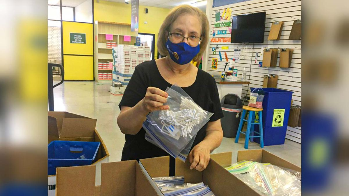 'Service above self' motto for Rotarian, Classroom Central volunteer