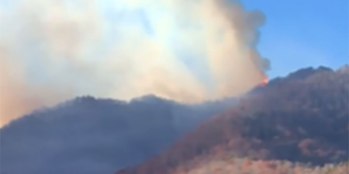 WATCH: North Carolina's famed Cold Mountain is on fire