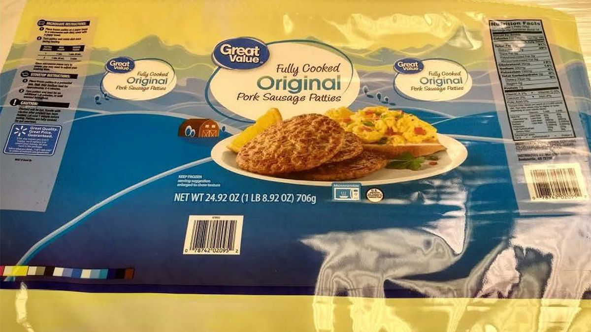 Great Value sausage patties sold at Walmart recalled for possible salmonella contamination