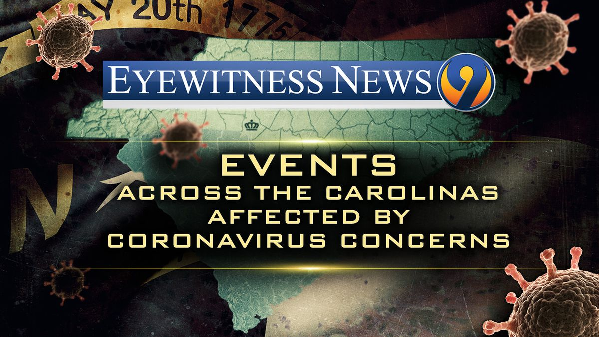 Here's a list of NC/SC events canceled or postponed due to coronavirus concerns