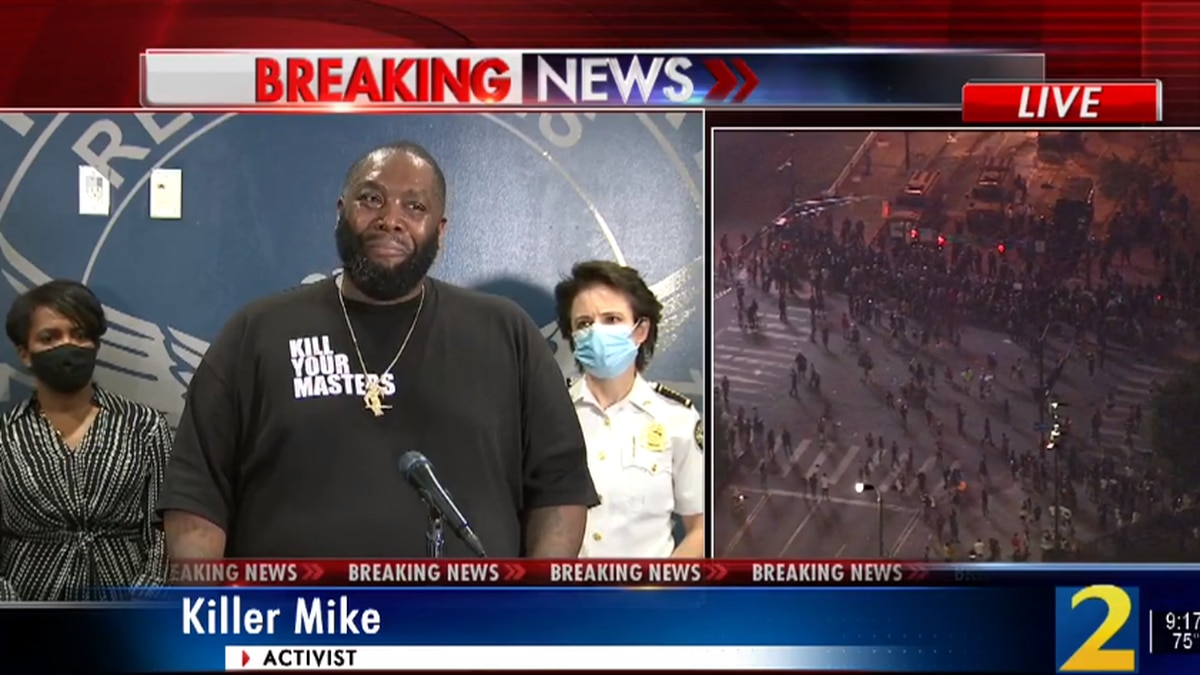 'Go home. Come up with real solutions': Atlanta rapper Killer Mike condemns vandalism
