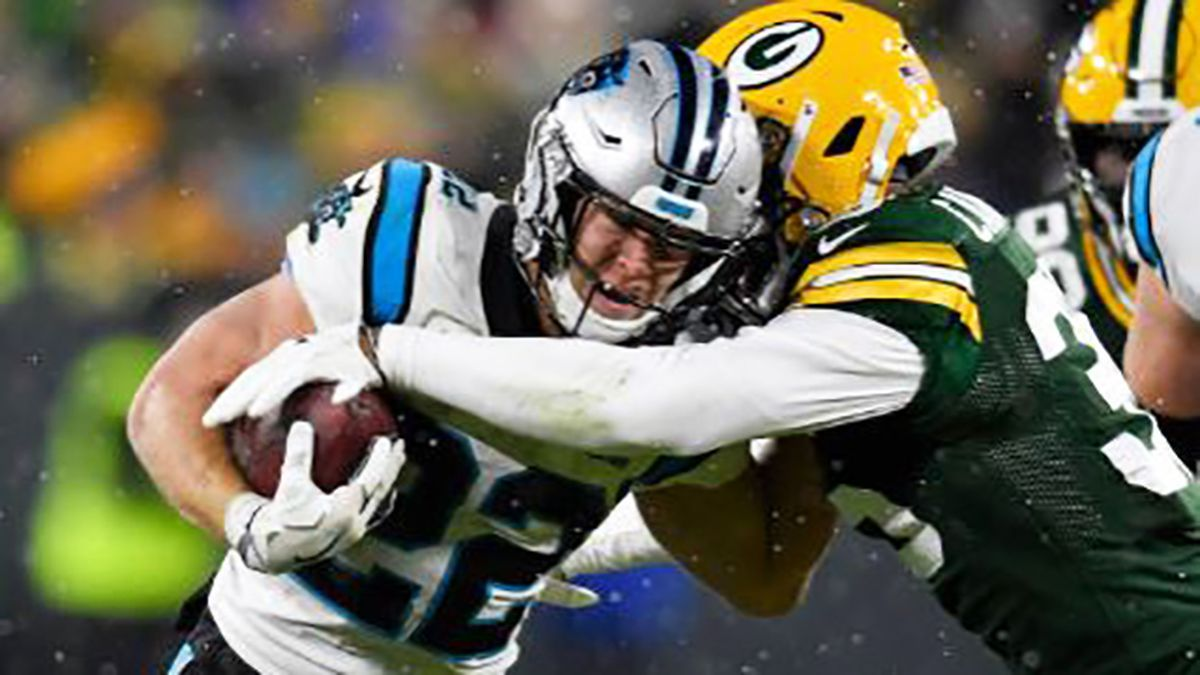 McCaffrey distraught after stopped at goal line as Panthers lose in Lambeau
