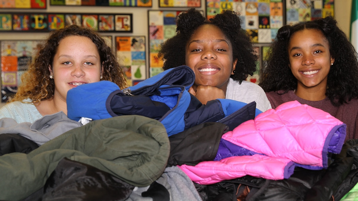 Charlotte students collect hundreds of coats for Steve's Coats for Kids