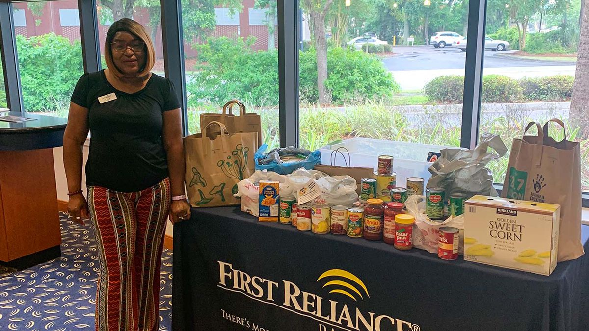 First Reliance Bank helps local food insecurity