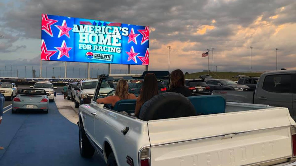 Live drive-in concerts coming to Charlotte Motor Speedway