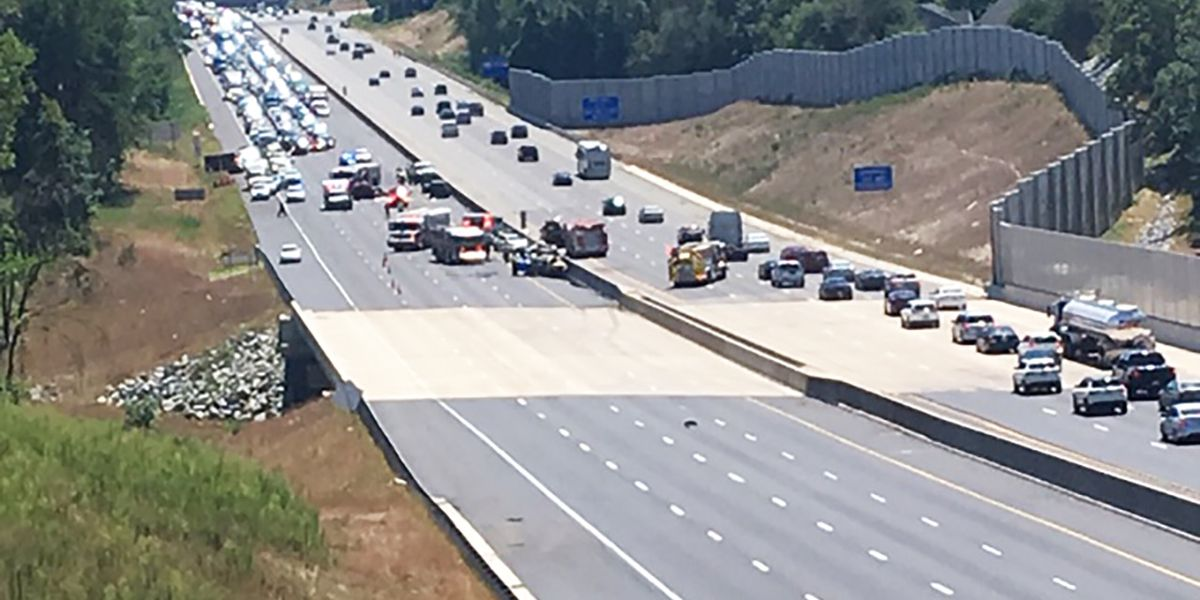 Serious crash closes portion of I-85 in Cabarrus County for hours
