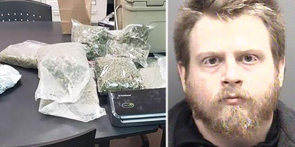 Deputies find 7 pounds of marijuana after man refuses to unlock car door