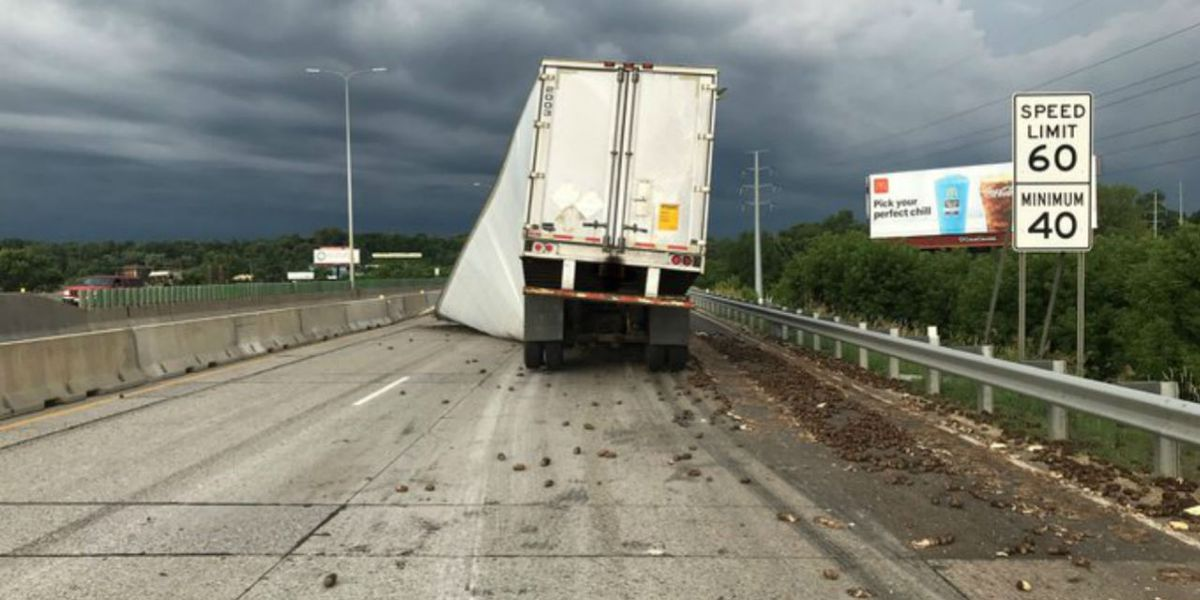 Lost load of potatoes closes highway for hours
