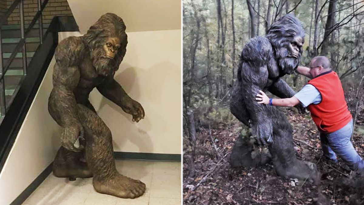 Stolen 6-foot tall Bigfoot statue found in Avery County woods