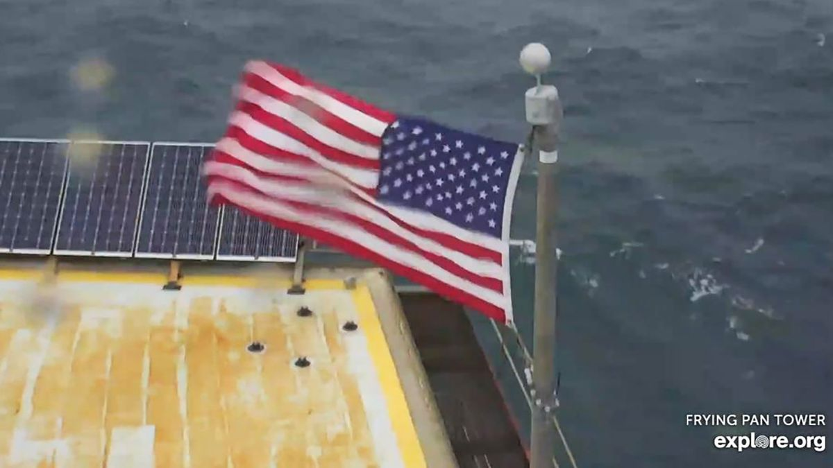 Frying Pan Tower auctioning off American flag to help those hit hardest by Isaias