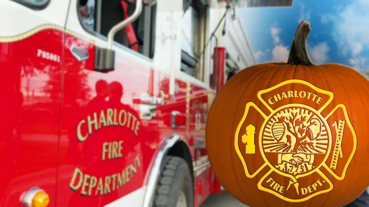Charlotte Fire Department getting candy to the kids