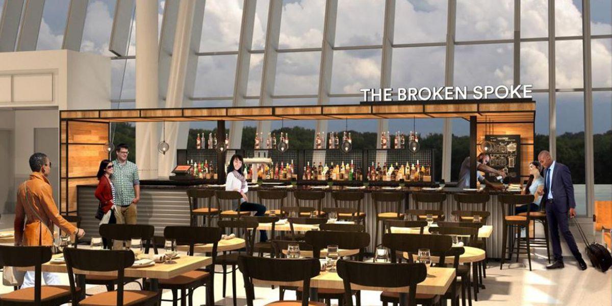 Local distillery opening bar at Charlotte Douglas International Airport