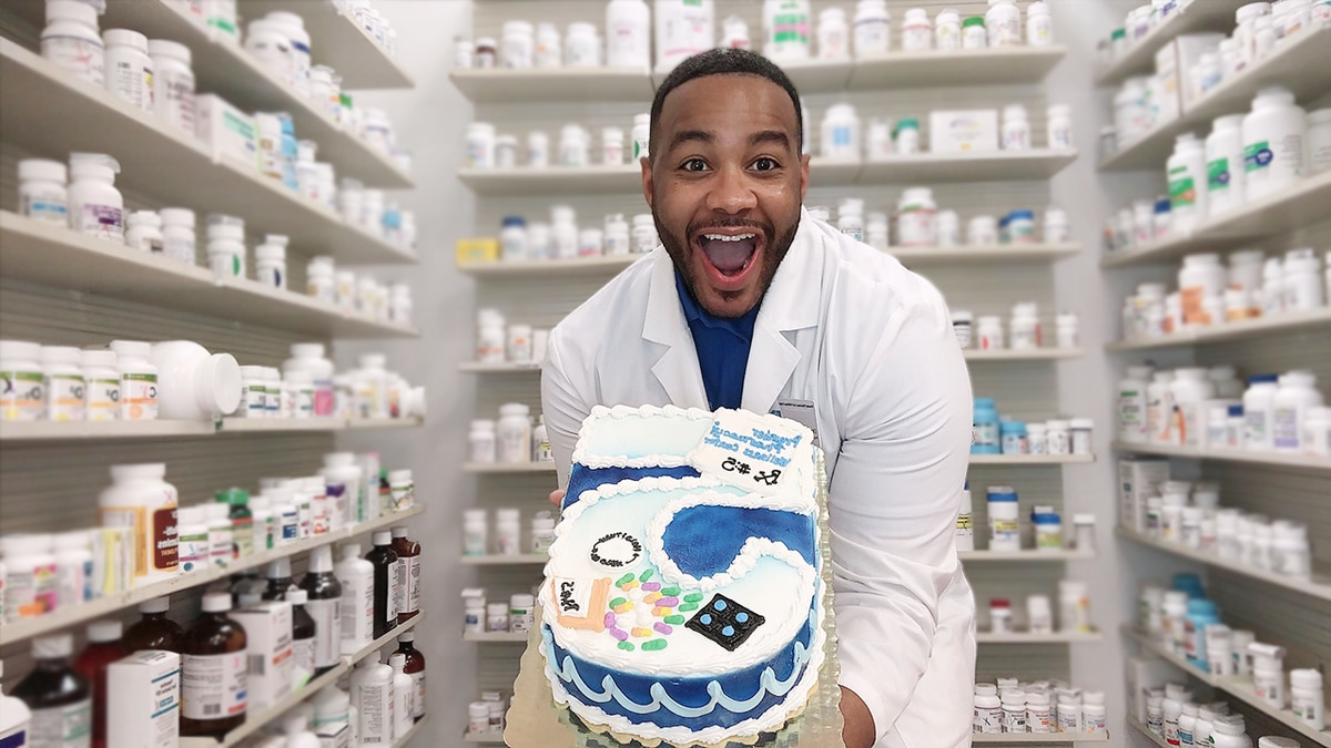 Pharmacist's bold move celebrates 5 years serving the community