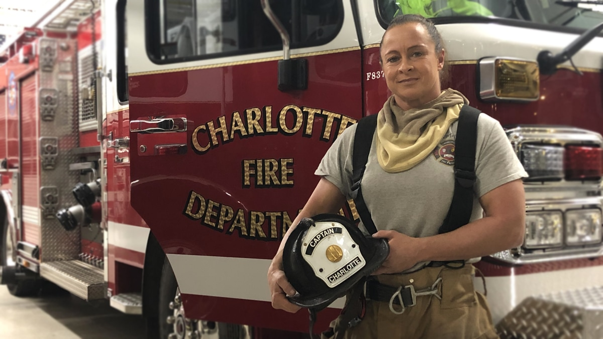 Charlotte fire captain chose firefighting over pro wrestling