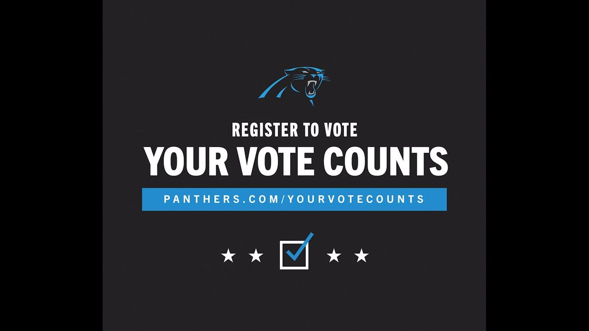 Panthers encourage fans to vote; stadium approved as early voting site