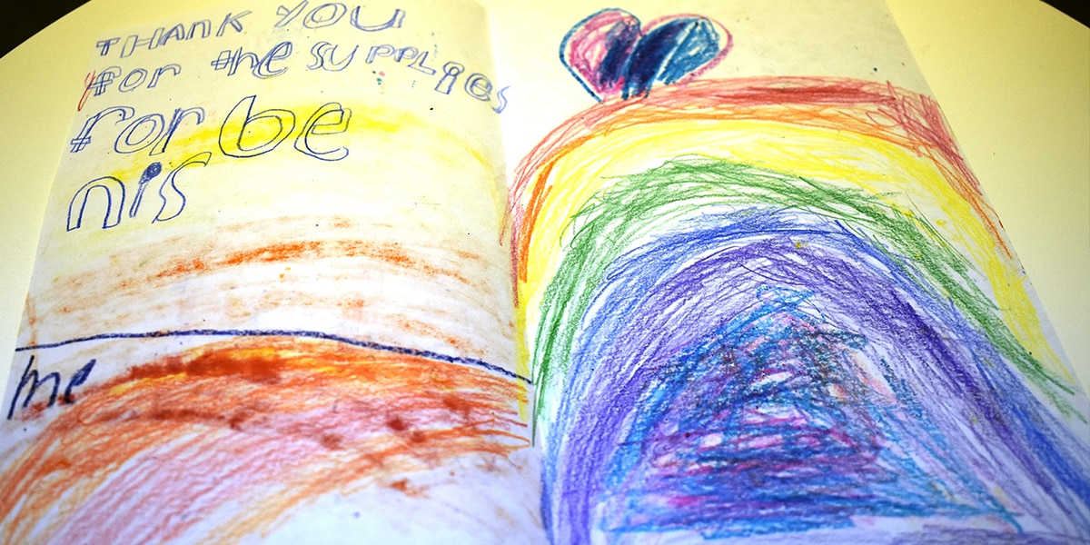 Kids send heartfelt thank-you notes to Classroom Central for school supplies