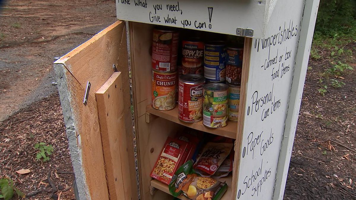 Local teen sets up food pantry in Grier Heights neighborhood