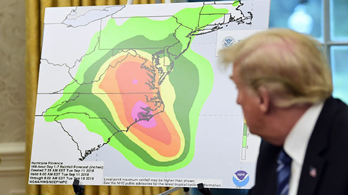 As Florence looms, Trump gives himself 'A-pluses' on hurricane response